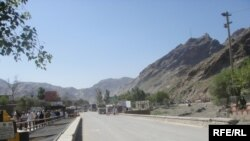 The Afghan road at Torkham, near the Pakistani border (file photo)