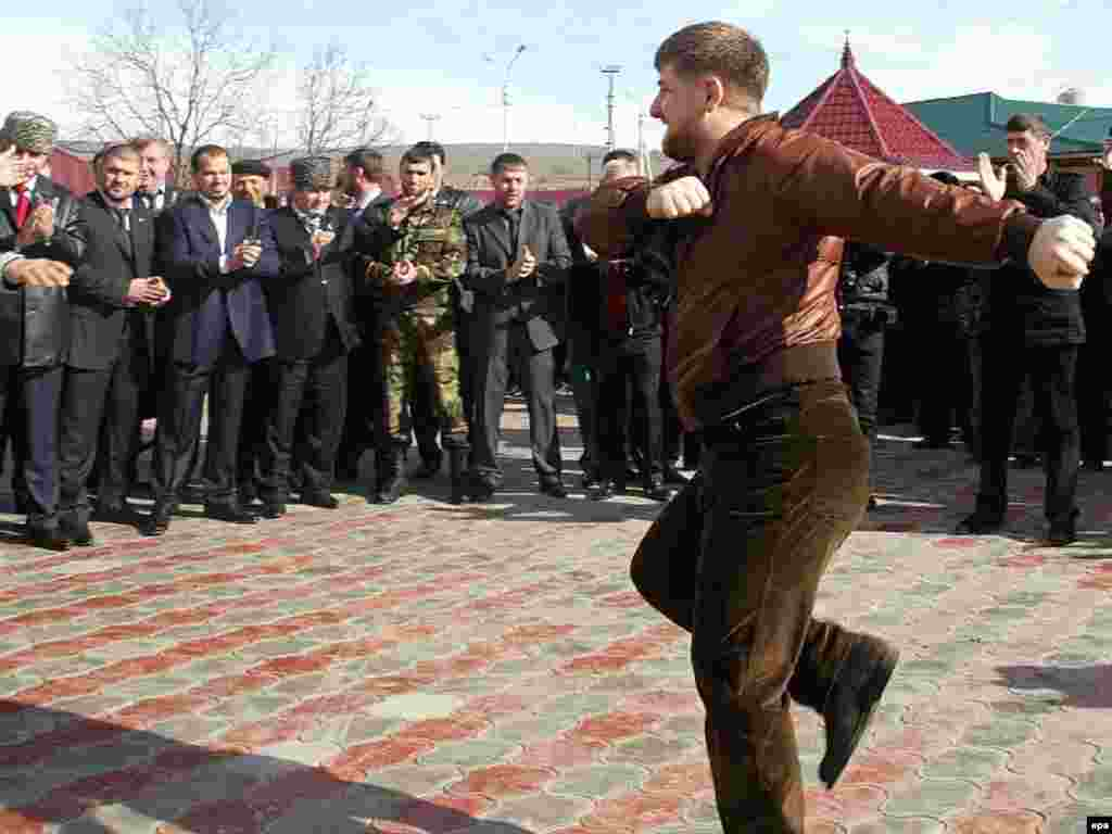 Kadyrov could also be found dancing outside polling stations in Grozny during Russia's presidential election in March 2008.