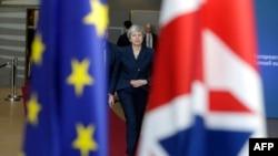 Тереза Мэй прибыла на саммит лидеров Евросоюза, Брюссель, 21 марта 2019 года.
