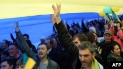 Мітинг за єдність в Донецьку у квітні 2014 року
