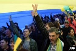 Марш за единство Украины в Донецке, 17 апреля