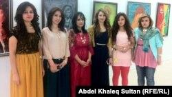 سبع فنانات تشكيليات من رانية في معرضهن بدهوك