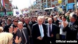 Tomisllav Nikolliq gjatë fushatës së tij për zgjedhjet e 6 majit ishte edhe në veri të Kosovës...