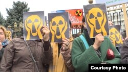 Митинг против добычи урана. Апрель 2019 года.