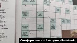 Сканворд из «Крымской газеты» с вопросом про «Украино-татарский полуостров»