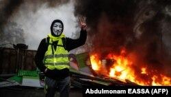 """Protest """"žutih prsluka"""" u Francuskoj, ilustrativna fotografija"""