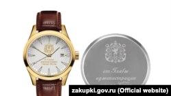 Позолоченные сувенирные часы от российского главы администрации Керчи, которые закупили 27 марта 2020