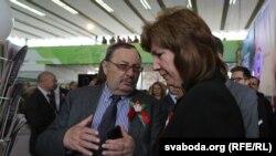 Павал Якубовіч на выставе «СМІ ў Беларусі»