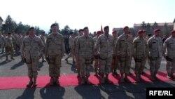 Архивска фотографија - Испраќањето на македонски војници во Авганистан.