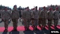 Архивска фотографија: Свеченост по повод испраќањето на нов контингент македонски војници во Авганистан.