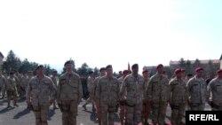 Испраќање на контингент македонски војници во Авганистан.