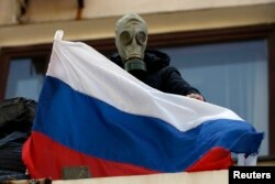 Проросійський активіст у Маріуполі, 7 травня 2014 року