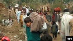 Local residents flee violence in Swat valley, another hotspot in western Pakistan's tribal areas.