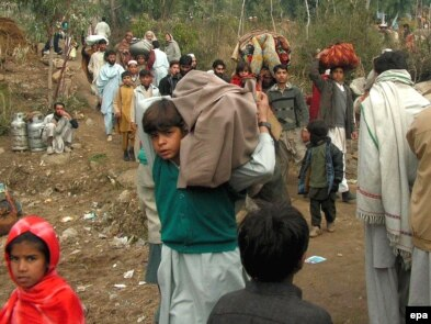 Local residents flee Swat valley