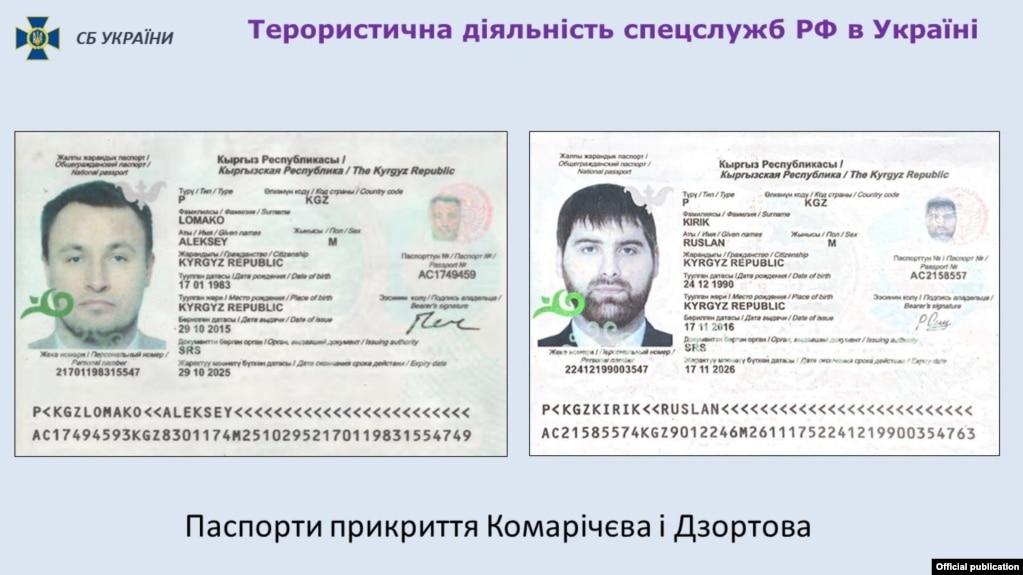 Украинада теракт жасамақ болғандар қырғыз төлқұжаттарын пайдаланған