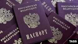 Russia -- Blanks Russian passports are seen in Ryazan, February 28, 2014