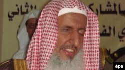Saudi Arabia's top Muslim cleric, Sheikh Abdul-Aziz al-Sheikh, at an unspecified location, undated.