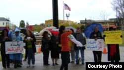 جانب من تظاهرة الجالية العراقية