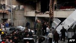 На месте взрыва в Бейруте 2 января