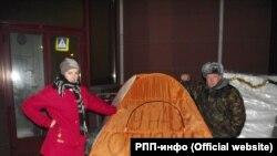 """Голодовка рядом с приемной """"Единой России"""""""