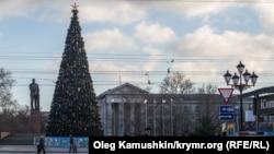 Новорічна ялинка в Сімферополі, 2014 рік