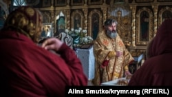 Архиепископ Климент в Кафедральном соборе, Симферополь, 13 января 2019 года