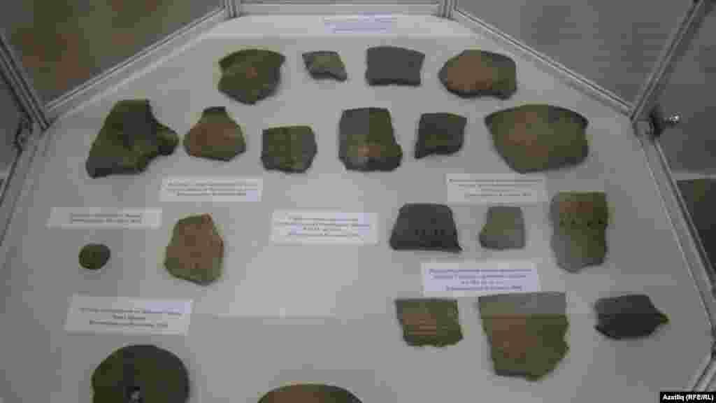 Чулман төбәгендә табылган керамика әйберләре