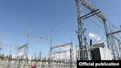 Armenia - A newly refurbished energy distribution facility in Gyumri, 13Sep2014.