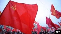 Rusiya kommunistləri 1917-ci il inqilabının ildönümünü qeyd edirlər - 2011