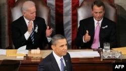 Барак Обама выступает перед членами Конгресса