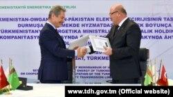 """31-nji ýanwarda Aşgabatda Türkmenistanyň Energetika ministrliginiň we """"Çalyk Holding A.Ş."""" kompaniýasynyň arasynda Ähtnama gol çekildi."""
