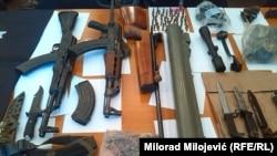 Oružje zaplijenjeno u Banjaluci u maju 2015.