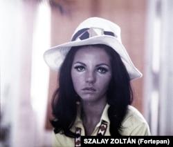 Cântăreața pop Sarolta Zalatnay (supranumită Janis Joplin a Ungariei) în 1969.