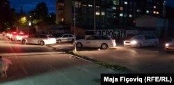 Makinat e OSBE-së duke transportuar votat për në Rashkë dhe Vranjë.