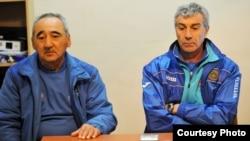 Ҳамид Каримов(аз чап) ва Олег Ширинбеков