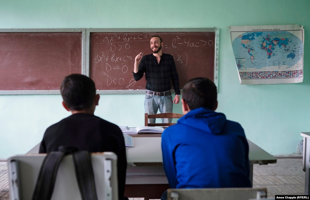 Hayk Simonian, math teacher in the village of Bagaran​