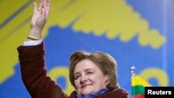 Лорета Ґраужинєне під час виступу в Києві, 26 листопада 2013 року