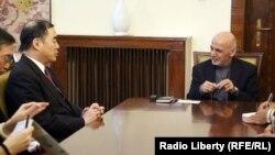 رئیس جمهور اشرف غنی با کانگ زین یو معین وزارت خارجۀ چین