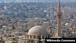 Фото разрушенного войной сирийского города Алеппо.