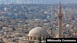 Город Алеппо в Сирии.