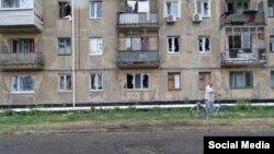 Счастье, результат ночного обстрела (фото Луганской ОГА)
