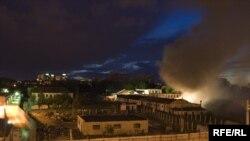 Пажар ў прамысловай зоне 1-й калёніі на вуліцы Кальварыйскай.
