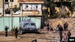 اثار عملية ارهابية في العريش شمال سيناء 29 كانون2
