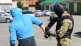Police, arrest, handcuffs, Russia