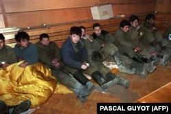 Пленные российские солдаты, 13 января 1995 года.