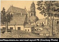 Я. Драздовіч. Вільня. Выгляд з Базылянаў на Басокі. 1924 год