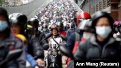 Луѓе со маски, Тајван април 2020