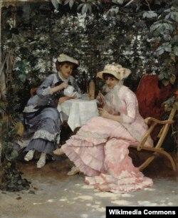 Хуга Біргер, «У альтанцы» (1880)
