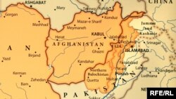 Afghanistan/Pakistan -- RFE/RL map, with Pashtun (Pashto) regions identified