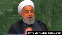 Իրանի նախագահ Հասան Ռոհանին ելույթ է ունենում ՄԱԿ-ի Գլխավոր վեհաժողովի նստաշրջանում, 25-ը սեպտեմբերի, 2018թ․